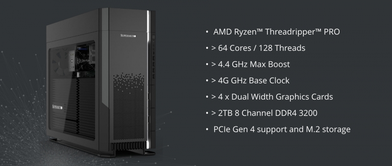 Supermicro launch their AMD RYZEN™ THREADRIPPER™ PRO workstation