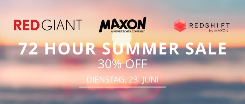 Maxon, Red Giant und Redshift Sommer Sale